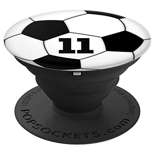 Soccer Ball #11 Grip for Soccer or Football Player No. 11 - PopSockets Grip and Stand for Phones and Tablets