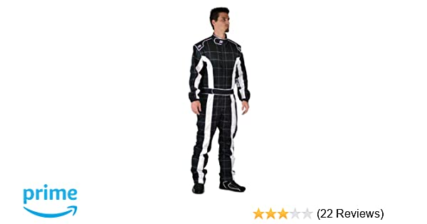 K1 Race Gear 20-TRI-NW-XL Black//White X-Large Single Layer Triumph PROBAN Cotton SFI Rated Fire Suit