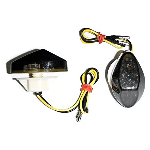 Krator Flush Mount LED Turn Signals Indicators Smoke Lens For 1997-2006 Honda CBR 600 (Led Turn Signal Honda Cbr)