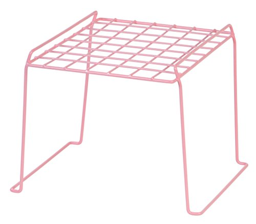 IRIS 8-inch Stackable Wire Locker Shelf, 4-Pack, Pink by IRIS USA, Inc.