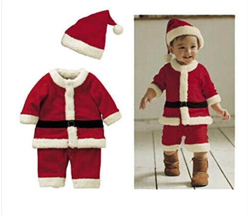 e1b0c1346 Toddle Baby Kids Boy Girl Christmas Xmas Santa Claus Costume Dress Outfit  Party (100 (18-24 Months), Boy's Red #Classic Santa Suit) - Buy Online in  Kuwait.