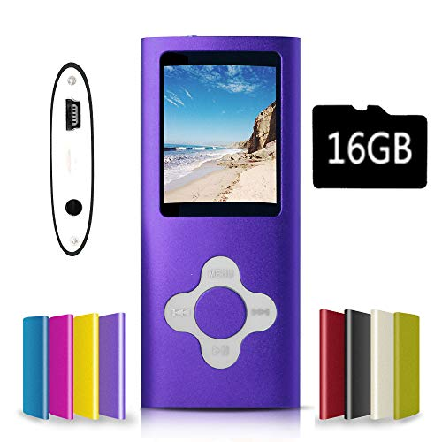 G.G.Martinsen Purple-with-White Versatile MP3/MP4 Player with a Micro SD Card, Support Photo Viewer, Mini USB Port 1.8 LCD, Digital MP3 Player, MP4 Player, Video/Media/Music Player