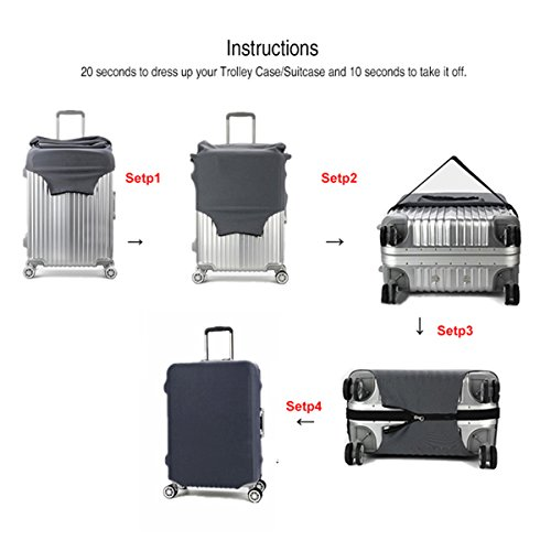 Madifennina Spandex Travel Luggage Protector Suitcase Cover Fit 23-32 Inch Luggage (sloth, XL) by Madifennina (Image #8)