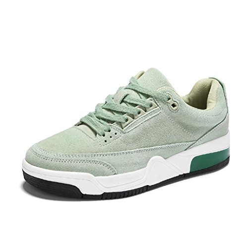 Femmes sport Chaussures Chaussures taille Blanc Running Casual HWF Printemps Retro Chaussures Vert Couleur Épais 38 Plate de Bottom femme HqOn4