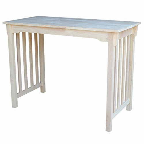 International Concepts Counter Height Mission Table, 24 by 48-Inch, Unfinished
