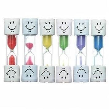 nicebuty para niños Kids Cepillo de dientes temporizador de 2 minutos sonrisa dientes Sand Cepillado Timer - Purple: Amazon.es: Hogar