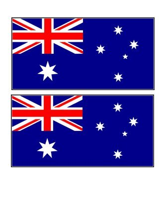 2 australia australian flag stickers decal bumper window laptop phone auto boat wall