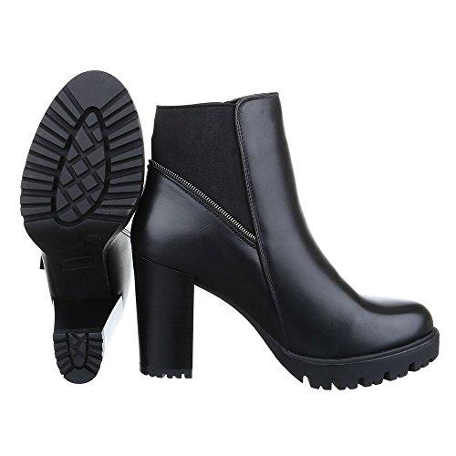 Ital Design negro Botas plisadas Mujer PPqr0w