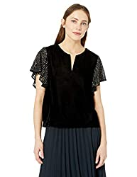 Tibby Sequin Velvet Top