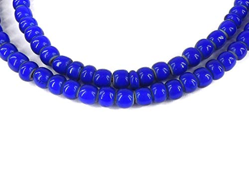 Whitehearts Venetian Trade Beads Blue African 26 -