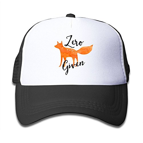 hot sell KAOMAOXI Adjustable Gym Mesh Cap Zero Fox Given Trucker Hat For Children big discount