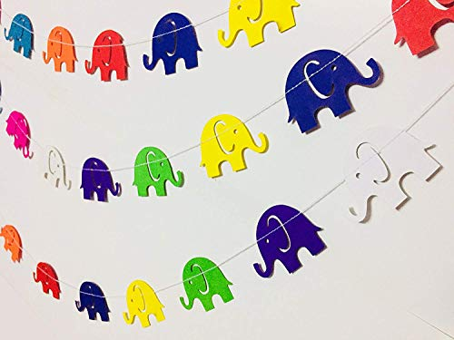 Rainbow Elephant Paper Garland Party Decorations - Marriage Decoration Items,Birthday Decorations Items,Birthday Decoration Material,Birthday Decorations,Birthday Party Decorations,Paper Garland. -