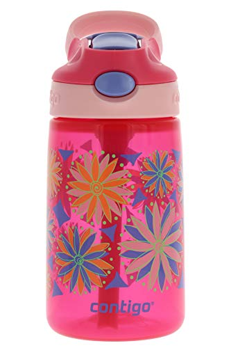 Contigo AUTOSPOUT Kids Gizmo Flip Water Bottle, 14oz Sprinkles Flowers Graphic -...