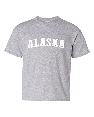 Ugo AK The Last Frontier Anchorage Flag Map Home of University of Alaska UAA Unisex Youth Kids T-Shirt Tee - Anchorage Store Map
