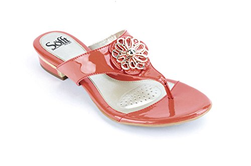 (Sofft Womens Bernelle Red Tangerine Patent Leather 6.5 M (B))