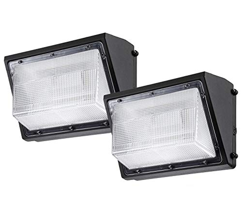 LEONLITE LED Wall Pack Light 0-10V Dimmable, 80W (400W Equiv.), 8900 Lumens, 100-277V, ETL & DLC Listed, 3-Year Warranty, Pack of 2