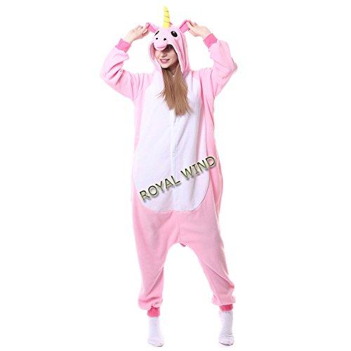 Adult Pink Unicorn Onesie Pajamas Kigurumi Cosplay Costumes Animal Outfit M
