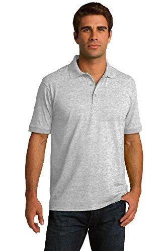 Shirt Blend Ash (Port & Company Tall Core Blend Jersey Knit Polo. KP55T Ash XLT)