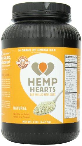 Manitoba Harvest Shelled Hemp Hearts, 5 Pound Tub