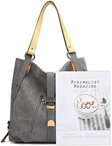 女性のための多機能キャンバスコンバーチブルハンドバッグのバックパックカジュアルショルダーバッグ YZUEYT