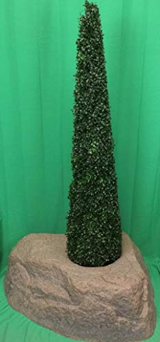 Artificial-UV-Rated-Outdoor-5-Tower-Boxwood-Topiary-Tree-Bundled-with-Rock-Planter-Cover-by-Silk-Tree-Warehouse
