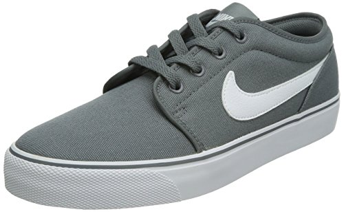 Nike Heren Toki Low Txt Casual Schoenen Cool Grijs / Wit