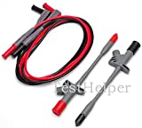 TestHelper High quality Insulated Piercing Test Clips Probe With 16A Silicone Test Leads
