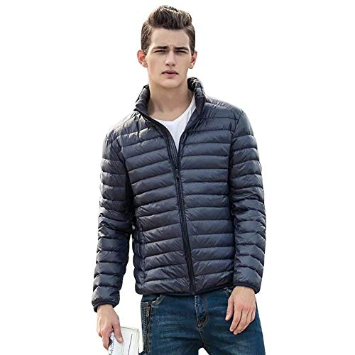 Jacket Packable Navyblue Long Jacket Outerwear Bomber Down Sleeve Lightweight Jackets BoBoLily Down Quilted Men's A8EwHH