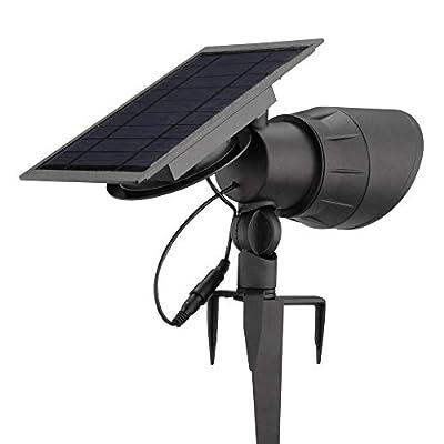 Hampton Bay NXT-SL-120-C Solar Black Outdoor Integrated LED Warm White 100-Lumen Landscape Spotlight with Remote Solar Panel 3000K