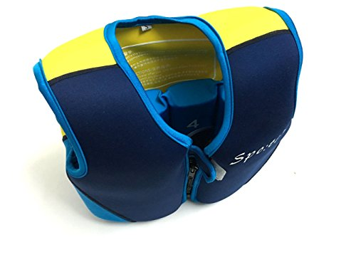 - Titop Infant Baby Outdoor Sports Swim Vest Under 35 Lbs Children Swimming Learner Jacket Blue+Yellow New Style With New Added Cross Belt Size Small for 1-3 Years