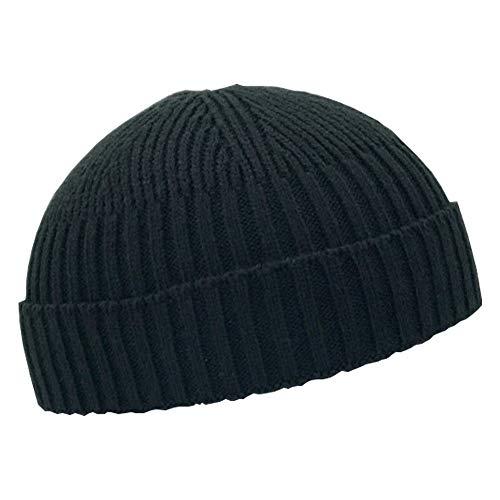 Fashion Fall Winter Knitted Hat Skull Cap Sailor Cap Cuff Beanie Vintage for Men Women -