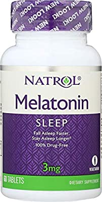 Amazon.com: Natrol (NOT A CASE) Melatonin 3 mg, 60 Tablets: Home & Kitchen