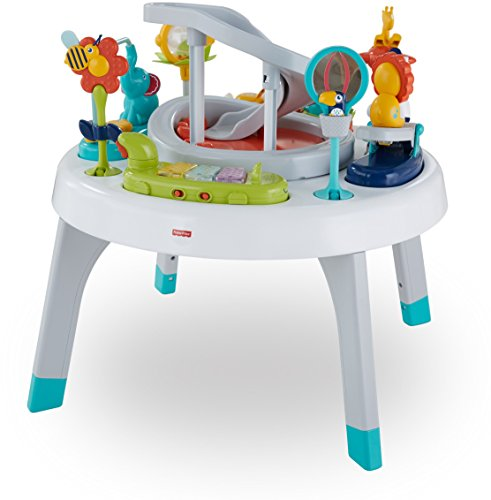Image of the Fisher-Price 2-in-1 Sit to Stand Activity Center, Spin 'n Play Safari