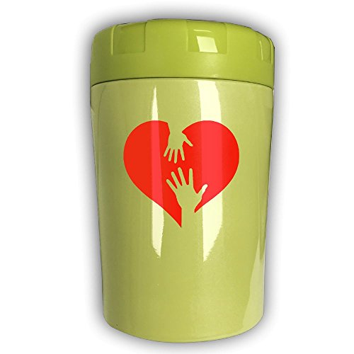 Sexy Martini Costumes (Sexy Love Heart With Hands Thermos Cup,Travel Insulation,Kettle Stew Pot,Outdoor Tableware,Stew Mug Burning Bottle,Vacuum Insulated Food Jar KellyGreen)
