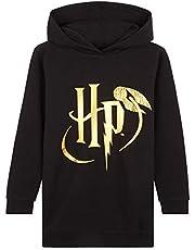 Harry Potter Capuchonjurk voor meisjes, oversized sweatshirt voor tieners, lange zwarte trui, officiële merchandise, hoodies jurken voor tieners, cadeaus voor meisjes