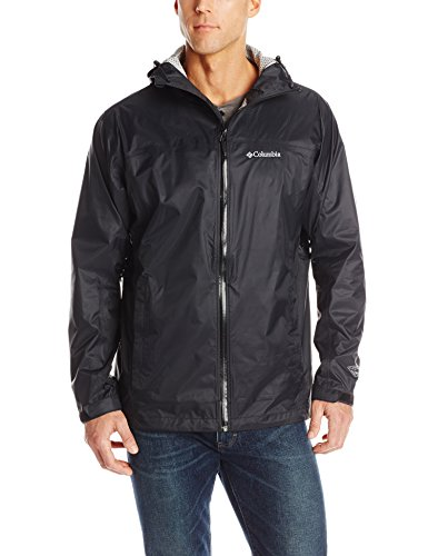 Columbia Men's EvaPOURation Jacket, Black, Large Tall