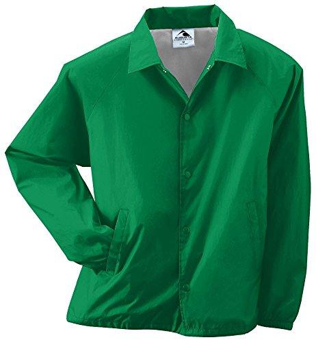 Augusta Sportswear MEN'S NYLON COACH'S JACKET/LINED S Kelly