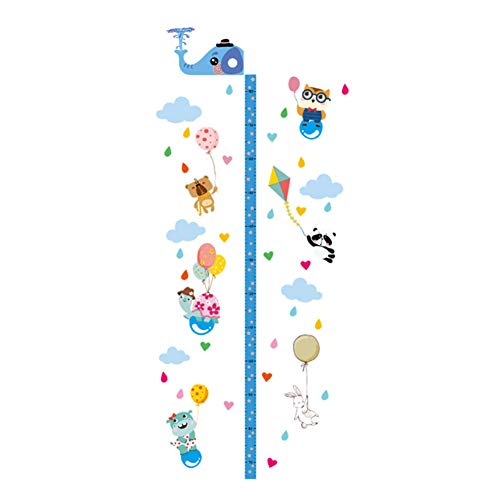 Surfboard Growth Charts - Whthteey Movable Growth Height Chart with Elephant Design Height Measurement for Kids Wall Decoration Ruler