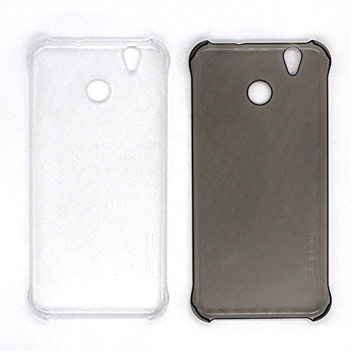 PREVOA Transparent Plastico Duro Funda Case Protictive para OUKITEL U7 Plus MTK6737 Android 6.0 Smartphone - Gris