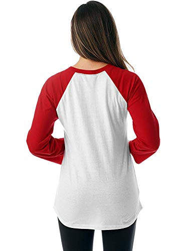 Down Right Crew Color Red Nlife Neck Driveway My Casual Amazon Block Blouse Women Here Comes Tops PTWzXHW