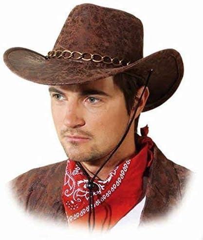 Adults Cowboy Costume Accessories Mens Ladies Wild West Fancy Dress Western