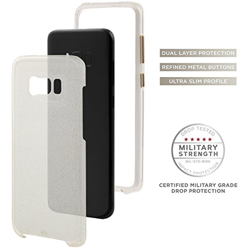 Case-Mate Wallet - Funda de piel para dinero para Samsung Galaxy S7, color negro champán