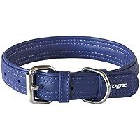 Rogz Leather Buckle Dog Collar, Purple, X-Small