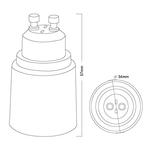 6 pack gu10 to e26  e27 adapter  u2013 pin base  gu10  to