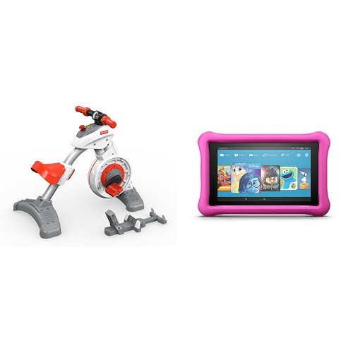 Fisher Price Think & Learn Smart Cycle and All-New Fire 7 Kids Edition Tablet, Pink Kid-Proof Case
