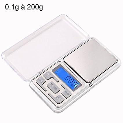 YONIS Mini báscula Digital de Muy Alta precisión de Bolsillo 0.1 g a 200 g