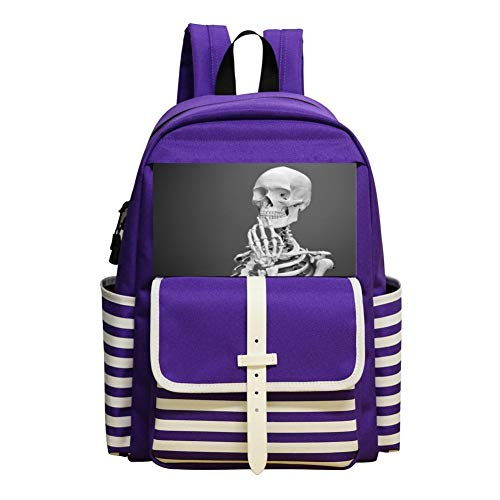 The Skeleton Of Thought Schoolbag Large Primary School Leisure Bag Children'S Backpack Purple -