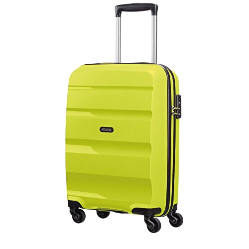 American Tourister Bon Air Spinner Reise Koffer Hartschalen Trolley Rollen Case, Bon Air Spinner, Farbe / Motiv Lime, Größe Small