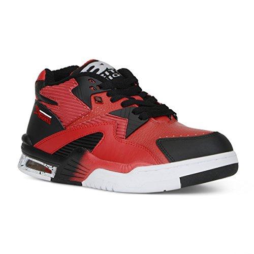 Sneaker Marocchino Da Uomo Britannico Mid Mid Nero / Bianco / Bianco
