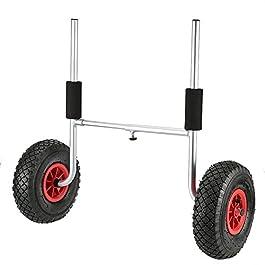 Festnight Kayak Chariot à 2 roues, capacité de charge amovible, économie d'énergie, capacité de charge de 50 kg, pour…